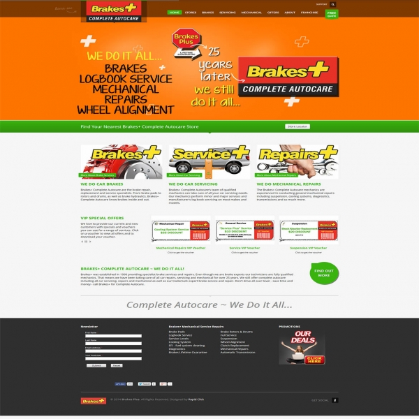 Brakes Plus Website