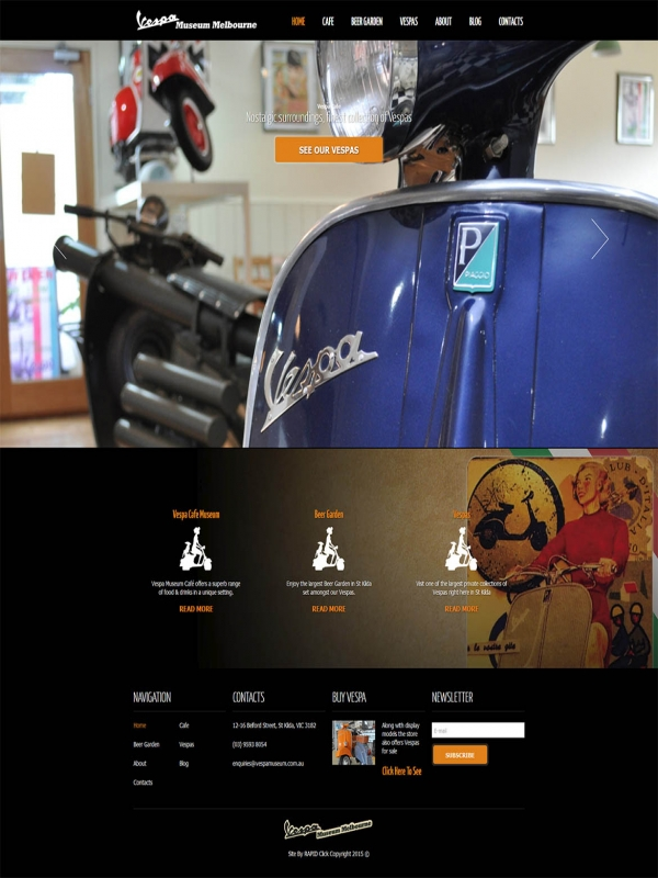 Vespa Museum Website